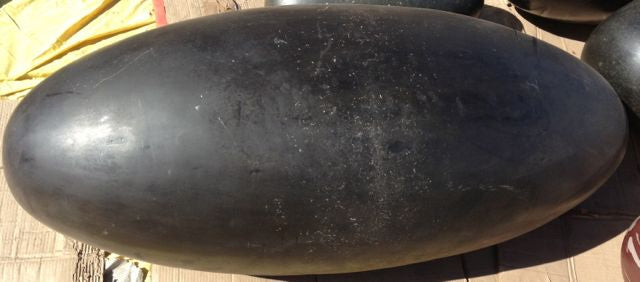 Large Black Shiva Lingam, about 4 feet long