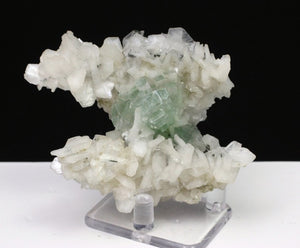 Disco ball Green Apophyllite with Stilbite