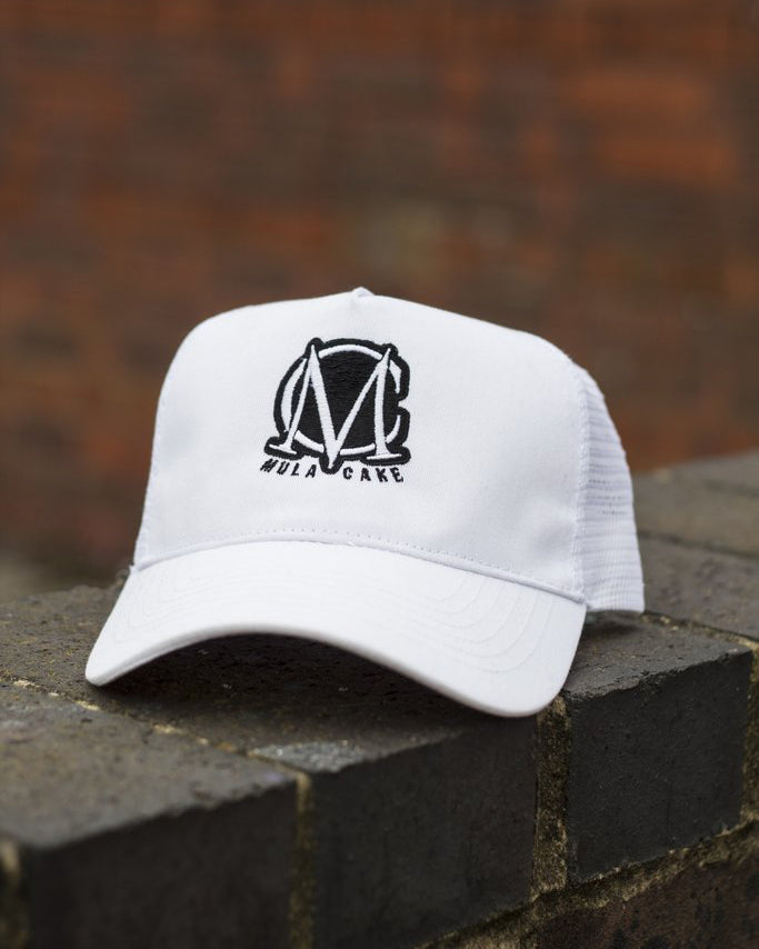 Trucker Mesh White and Black Snapback Cap