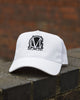 Image of Trucker Mesh White and Black Snapback Cap