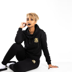 Non Ripped Black & Gold Tracksuit