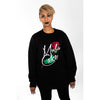 Image of Longline Round Neck Rose Jumper