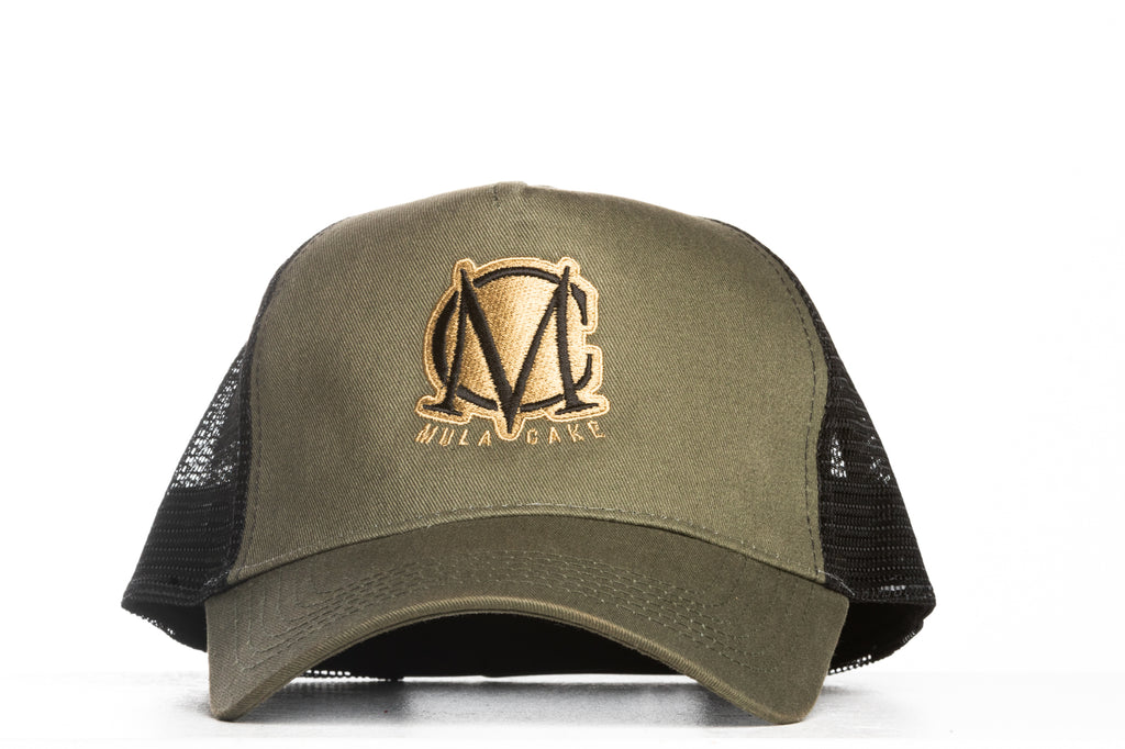 Trucker Mesh Green and Gold Snapback Cap