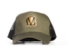 Image of Trucker Mesh Green and Gold Snapback Cap