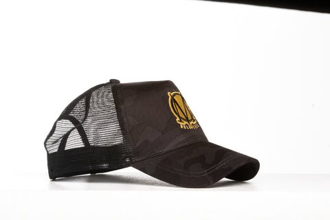 Trucker Mesh Brown and Gold Snapback Cap