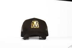Trucker Mesh Black and Gold Snapback Cap