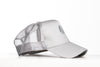 Image of Trucker Mesh Silver and White Snapback Cap