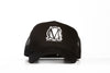 Image of Trucker Mesh Black and White Snapback Cap