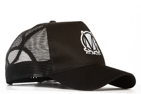 Trucker Mesh Black and White Snapback Cap