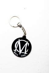 White Key Ring
