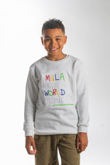 Mula World  Light Weight White Sweatshirts