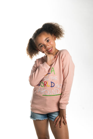 Mula World  Light Weight Pink Sweatshirts