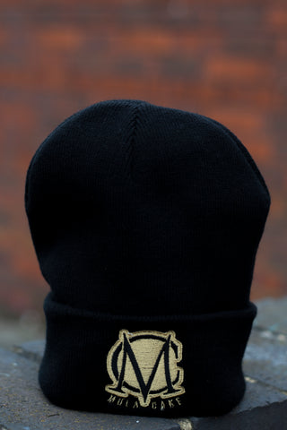 Black and Gold Wooly Hat