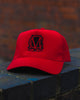 Image of Trucker Mesh Red and Black Snapback Cap