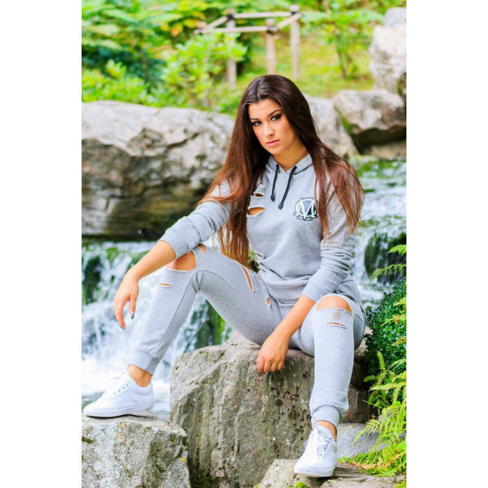 Ripped Grey Tracksuit