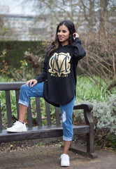 Black & Gold Over Size Hoody