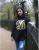 Image of Black & Gold Over Size Hoody
