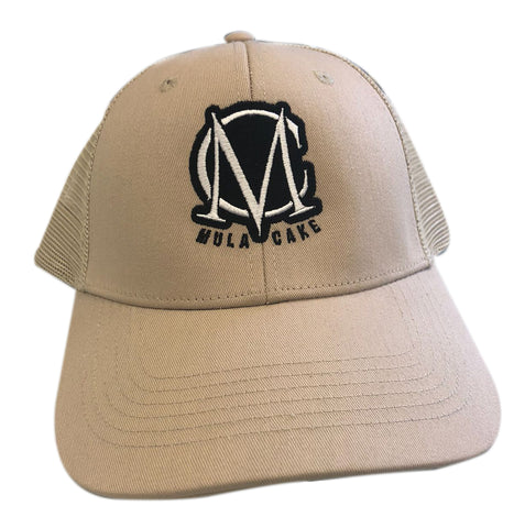 Trucker Mesh Beige and Black Snapback Cap