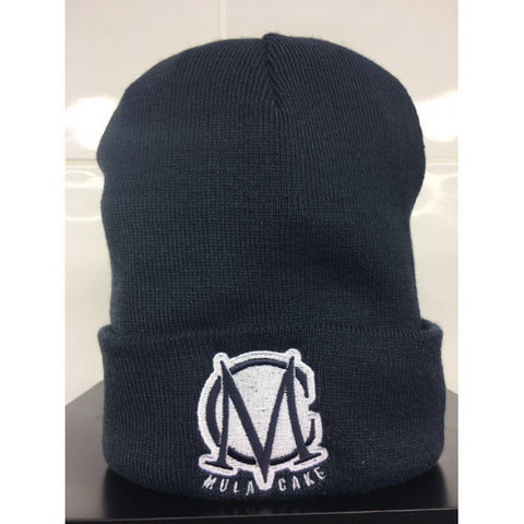 Navy Blue and White Wooly Hat