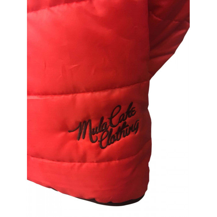 Black and Red Reversible Padded Jacket