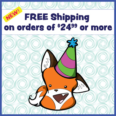 Free shipping all orders $24.99 and up