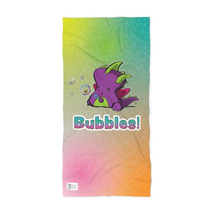 Indigo Bubbles Beach Towel