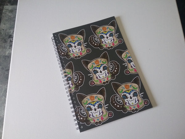 Sugarskull Kitty Bullet Journal