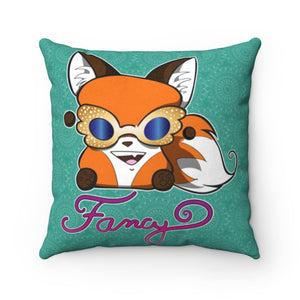 Fancy Yip Faux Suede Square Pillow