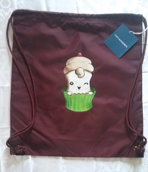Cupcake Marshmallow Cinch Sack