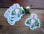 Daiquiri, the Marshmallow Bunny Vinyl Sticker