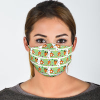 Yip the Fox Pattern Face Mask