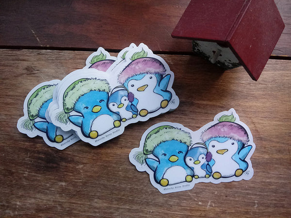 Marshmallow Pengu Family Vinyl Sticker