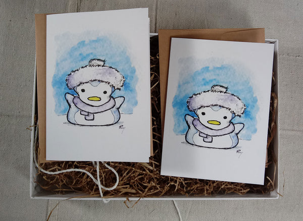 Greeting Cards: Pengu Mallow Box
