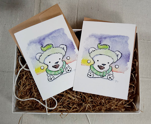 Greeting Cards: Winter Polar Bear Mallow Box