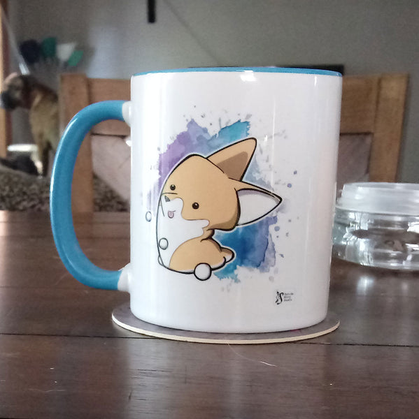 Red Corgi Marshmallow Ceramic Mug