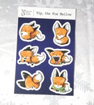 Yip, Fox Marshmallow Vinyl Sticker Sheet