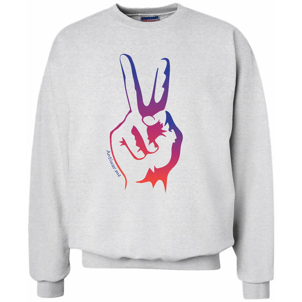 Spring Peace, Unisex Long Sleeve Crew Sweatshirt
