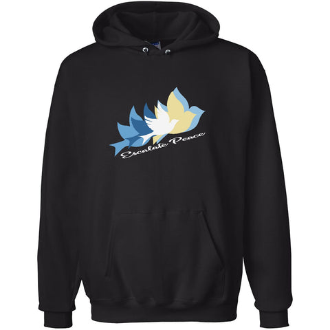 Escalate Peace, Unisex Long Sleeve No-Zip Hoodie