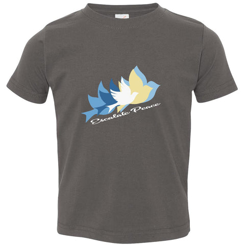 Escalate Peace, Toddler's Short Sleeve Crew TShirt