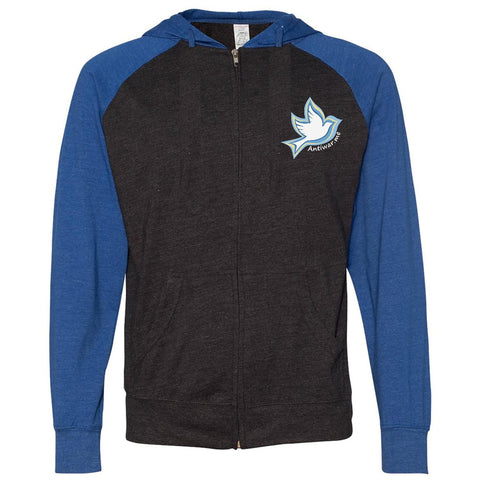 Dove Logo, Men's Long Sleeve Lightweight Jersey Raglan Hoodie