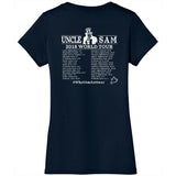 Antiwar.com, World Tour 2018, Women's Short Sleeve V Neck TShirt