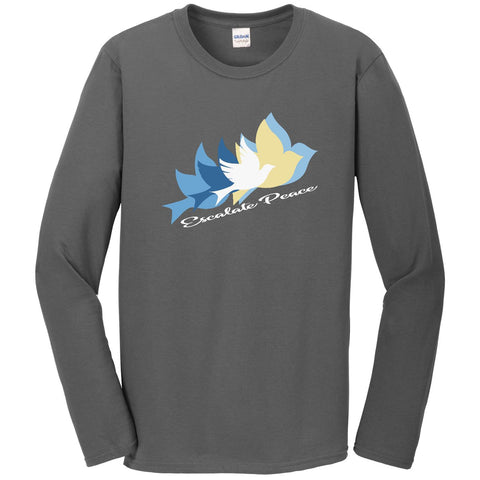Escalate Peace, Men's Long Sleeve Crew TShirt