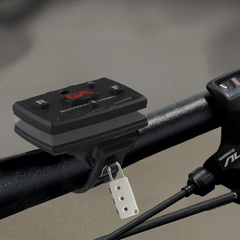 Guardian Angel - Bike/Rail Rubber Strap Mount with Magnetic Mount