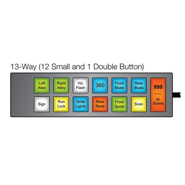 MCS-F14 Switch Unit (UNI-MAX) - 12 Small Buttons 1 Double Button