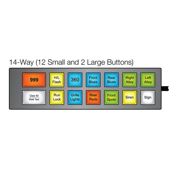 MCS-F14 Switch Unit (UNI-MAX) - 12 Small Buttons 2 Large Buttons