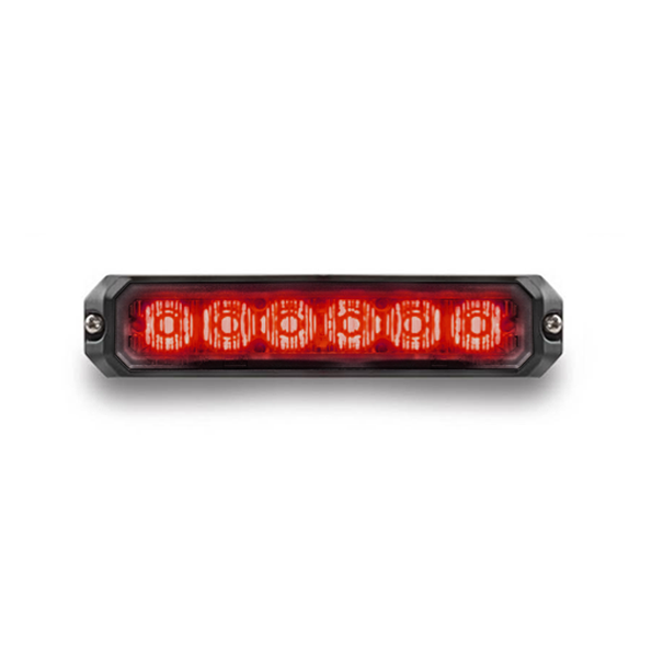 Mini Stealth - 6-way Surface Mount LED Modules (MS6BS) Red