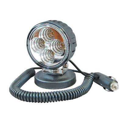 Round 4 LED Magnetic Work Lamp - Flood Beam