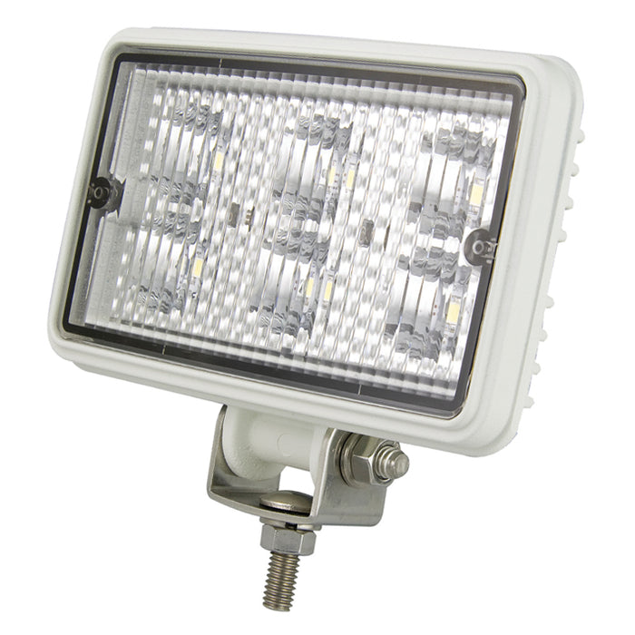 Rectangle 6 LED Work Lamp - Flood Beam (White)