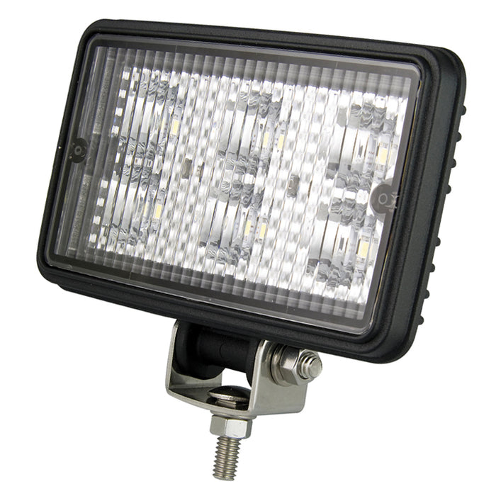 Rectangle 6 LED Work Lamp - Flood Beam (Black)
