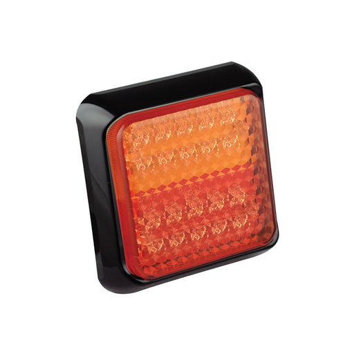 Square LED Stop/Tail/Indicator Lamp (Black)